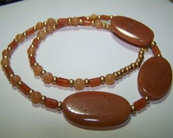 SAHARA SANDS-19 1/2 inch Red Adventurine Necklace