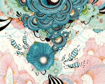 Giclee Fine Art  Print - Puff - 11x14