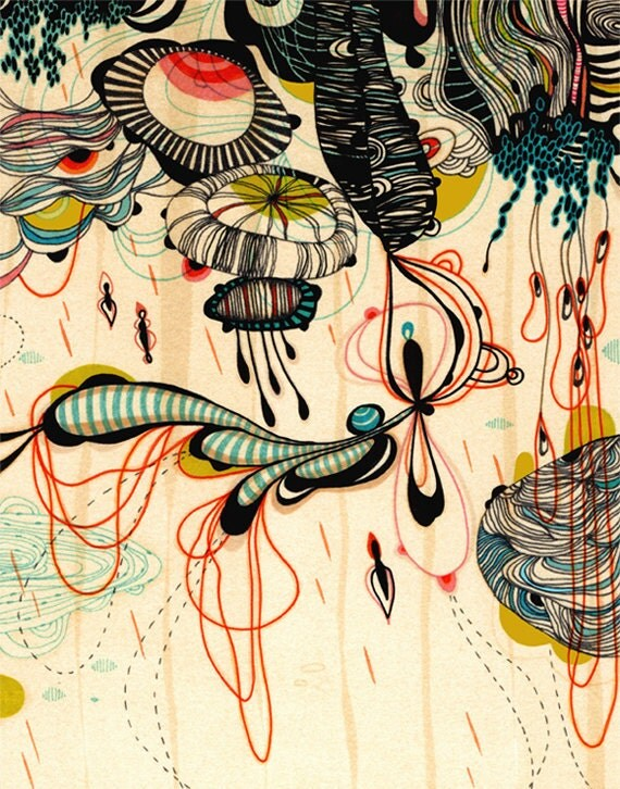 Raindrops - 11x14 - Print