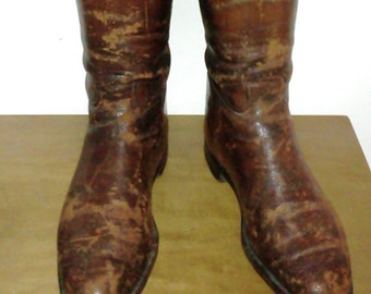 Antique Peal & Company Riding Field Boots with Original Boot Trees