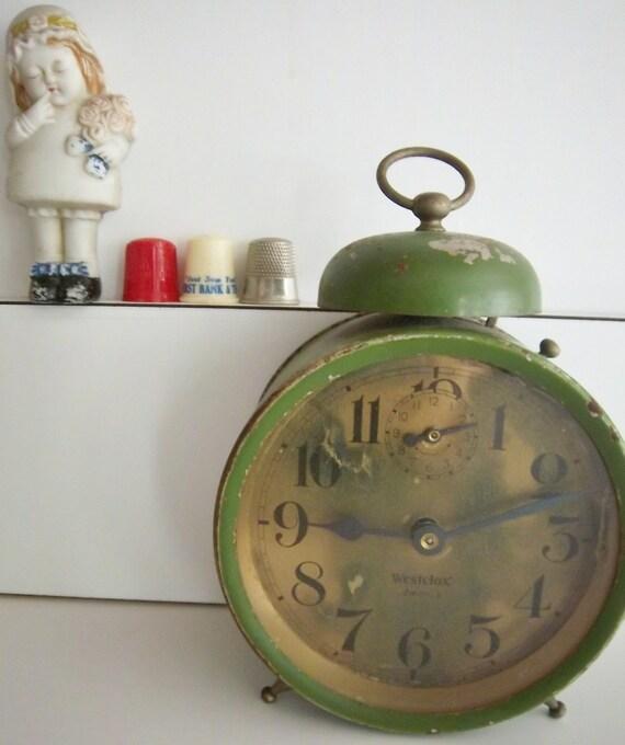 Westclox America Green Americana Alarm Clock
