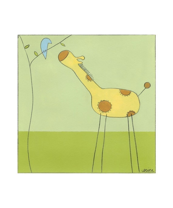 Stick-Leg Giraffe digital print (42250D)
