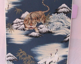 Table Runner Tigers & Cranes  #620