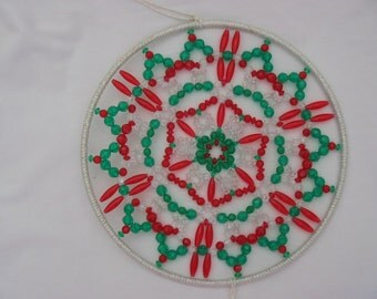 Suncatcher in Christmas Colors   #707