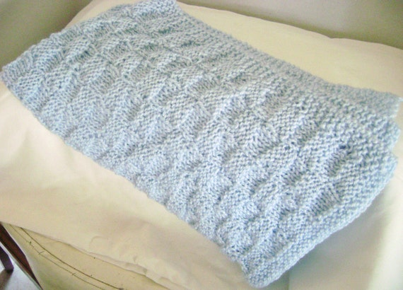Hand Knitted Baby Blanket  (5044)