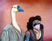 PRINT Fezzik & Indio 7 x 10 Digital Print from original acrylic Painting