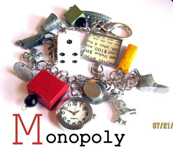 Monopoly Vintage  Treasures Charm Bracelet Watch