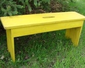 Entryway Bench Coffee Table Bedroom Seating Patio Garden Home Decor Lemon Yellow Cottage French Country