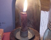 Rustic Primitive Candle Holder Early Farmhouse Lighting Make-Do Industrial