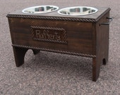 Dog Feeding Stand, Personalized Feeder, Elevated Dog Stand, Dog Bowl Holder, Pet Furniture,