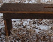 Rustic Wood Bench for Entry or Coffee Table Industrial Modern Home & Garden Decor Custom