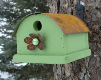 Rustic Birdhouse, Outdoor Birdhouse, Bird House, Wood Birdhouse, Decorative Birdhouse