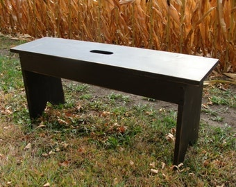 Entryway Bench, Coffee Table, Garden Bench, Wood Bench, Farmhouse Bench, Extra Seating Bench, Painted Furniture Black