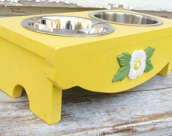 Dog Feeder Elevated Dog Feeder Bowl Holder Pet Furniture Feeding Stand, Gift for Pet Lover, Custom