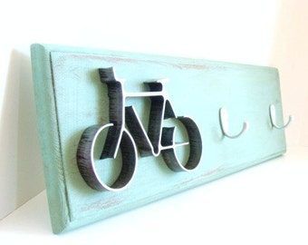 Metal Bicycle Key Hook Holder Entryway Home Decor Bike Wall Decor Key Hooks