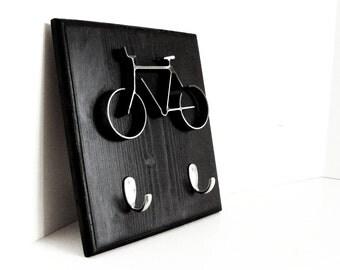Metal Bicycle Key Hooks, Metal Bike Hook Frame, Key Hook Holder, Bicycle Key hook, Bike Key Hook, Modern Bike Key Hook Holder, Black