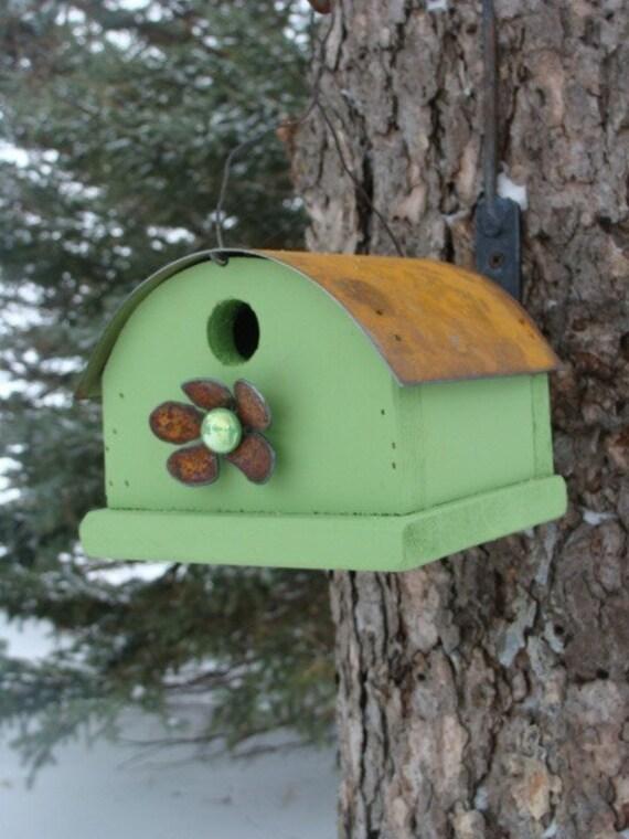 Rustic Birdhouse, Outdoor Birdhouse, Bird House, Wood Birdhouse, Decorative Birdhouse