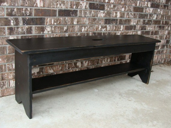 Storage Bench Coffee Table Entryway Bench by baconsquarefarm