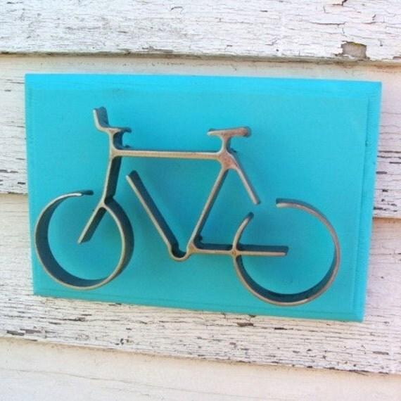 Metal Bicycle Wall Decor metal bike art bicycle wall decor bike on wood frame bikes and