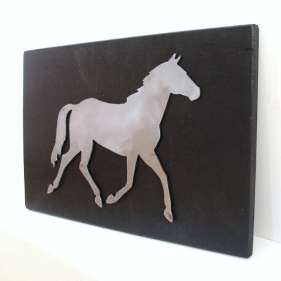 Wall Decor Metal Horse Art Decorative Wall Hanging Modern