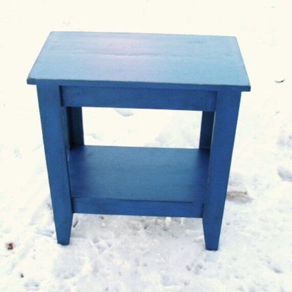 Entry Table, Console Table, Sofa Table, Storage Table, Wood Table, Table with Shelf, Painted Furniture, Cobalt Monoco Blue