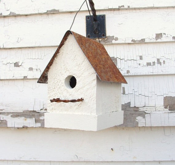 Cottage White Bird House