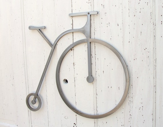 Industrial Modern Bicycle Wall Decor Art made from Thick Grade Steel  Warehouse Loft Home Decor 23 long x 28 tall