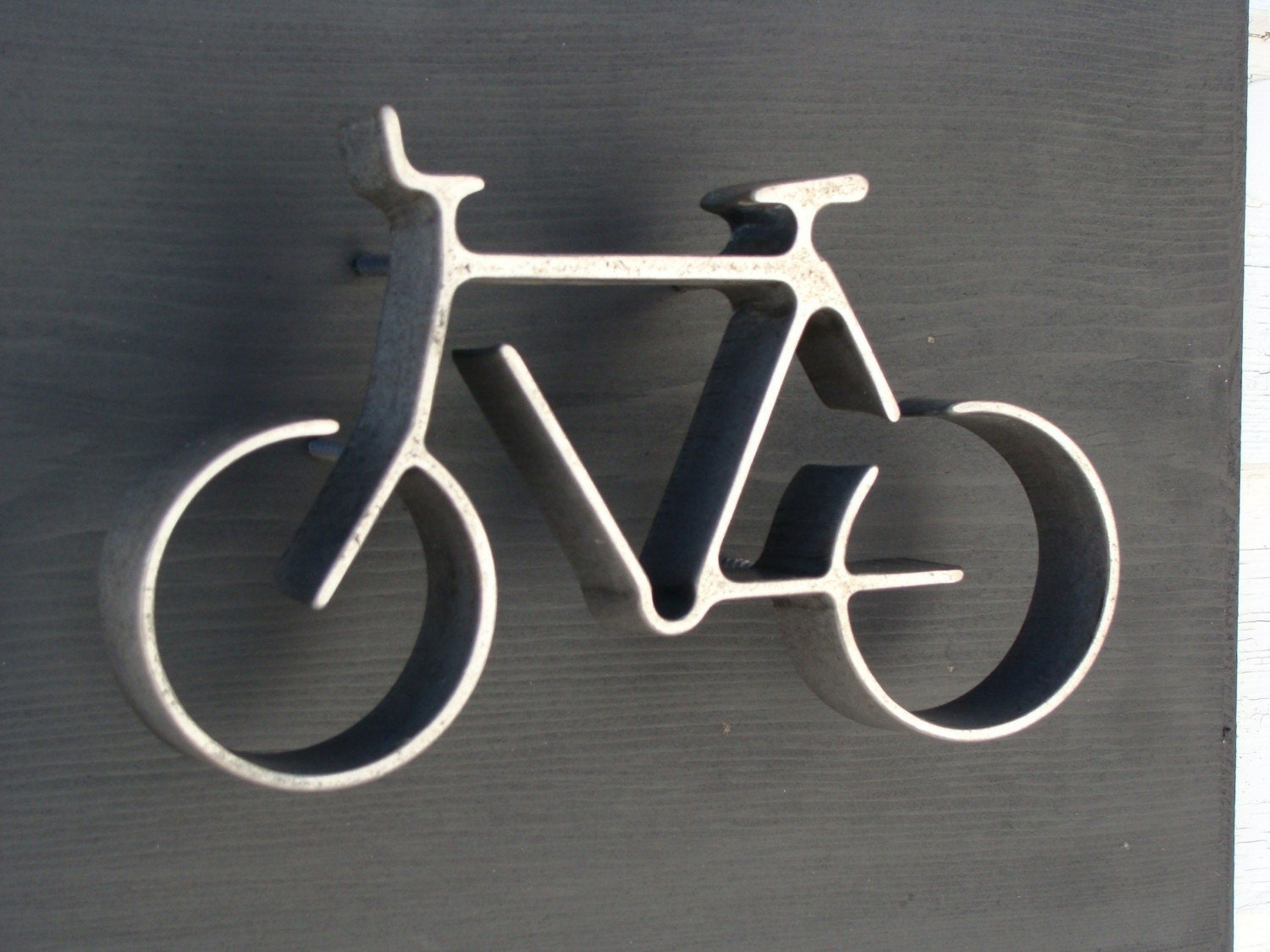 Iron bicycle wall art black wood frame fathers day for 70 bike decoration