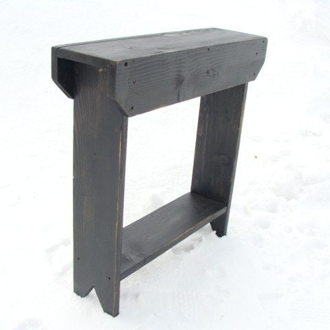 Console table side table entry table storage by baconsquarefarm - Entrance table with storage ...