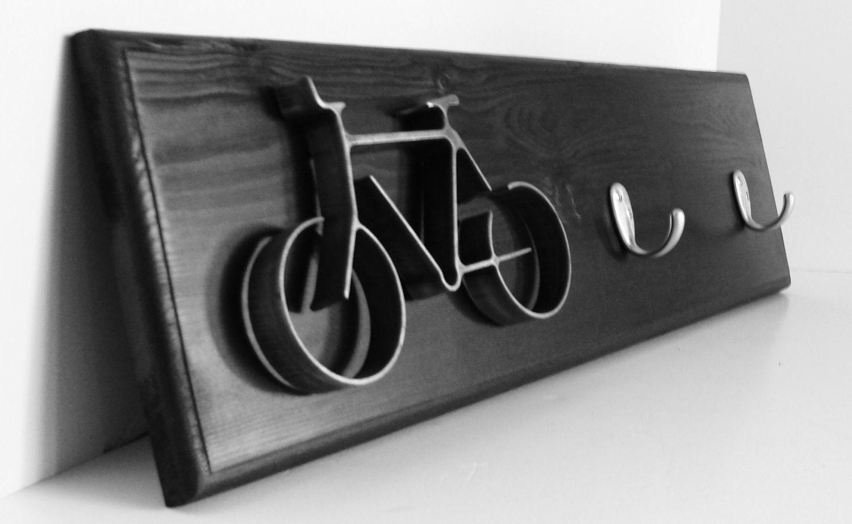 Metal Bicycle Wall Decor key hook rack metal bike art sculpture bike wall hanging