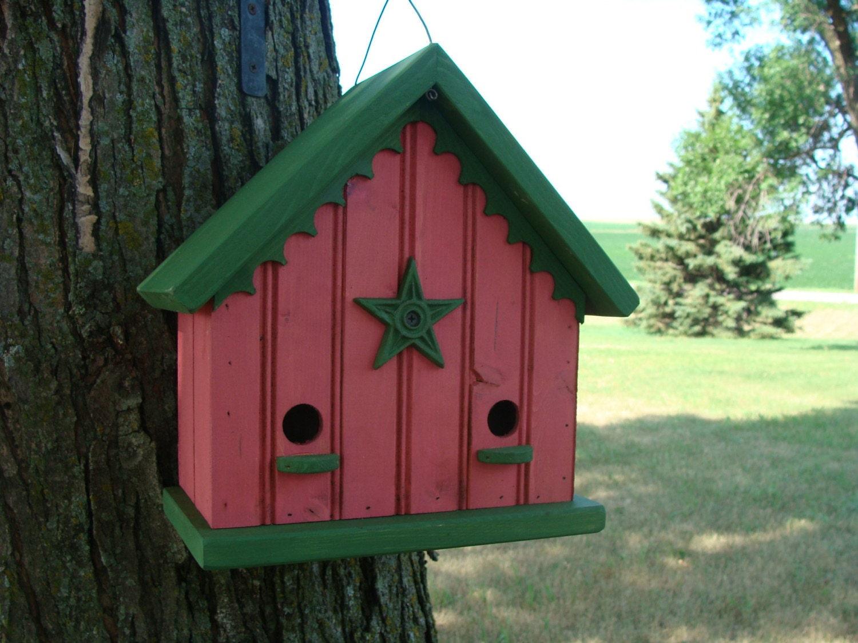 Cottage birdhouse outdoor bird house decorative birdhouses for Decorative birds for outside