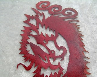 Asian Dragon in Red Papercutting Bookmark