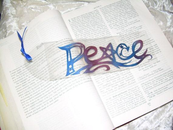 Peace Star Papercutting Art Bookmark