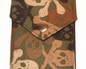 RESERVED FOR UPPITYWOMANDESIGNS Pocket Wallet - Camo Skulls