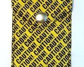 Envelope Wallet - Caution Tape