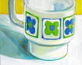 Mod Mod Mug contemporary still life painting on sale