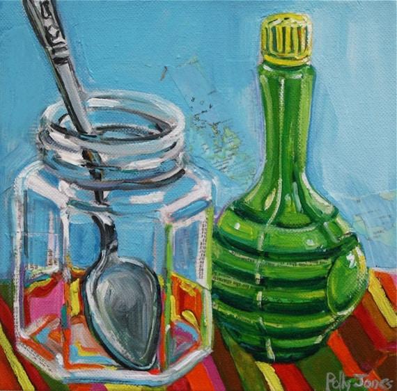 Imposter original mixed media painting by Polly Jones SA