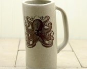 Tall Ceramic Octopus Mug
