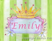 Nursery Art Personalized Princess Name Print 8x10