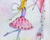 Fairy Princess Nursery Art Print 8x10