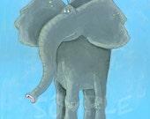 Nursery Art   Elephant  Art Print 8x10