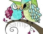 Kids Owl Art, Owl Nursery Art - Bon Ami -8x10 Print