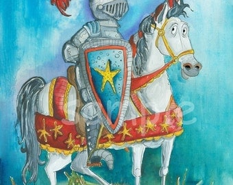 Knight - Kids wall art 8x10 print