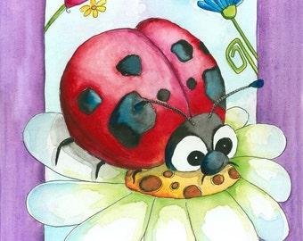 Nursery Art Ladybug 8x10  Art Print