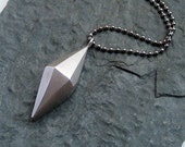 READY TO SHIP, Pyramid diamond shape necklace, tribal, sterling silver, geometric necklace