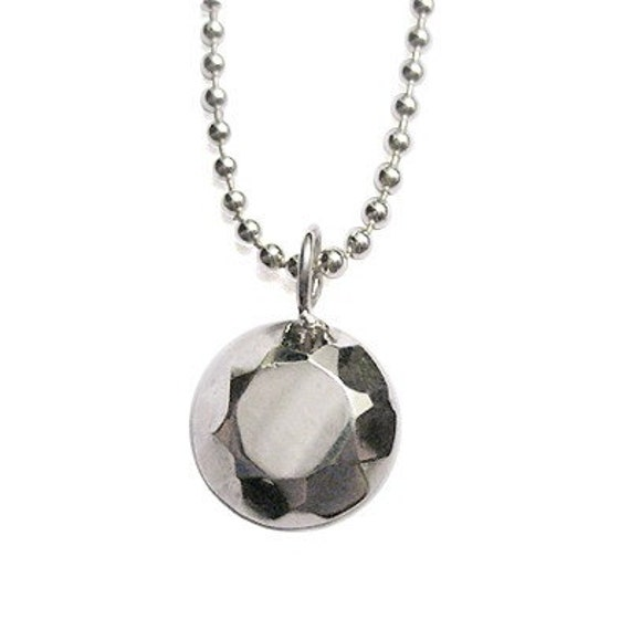 Modern Rock Round Brilliant Necklace