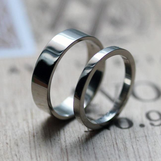 palladium ring modern wedding band alternative zoom - Palladium Wedding Rings
