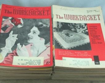 Lot of 12 Vintage WORKBASKET Magazines