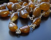RESERVED Gypsy agate necklace - 2nd payment