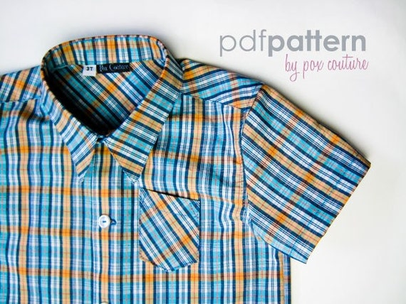 Kids Summer Shirt - PDF PATTERN and Instructions 18m-6